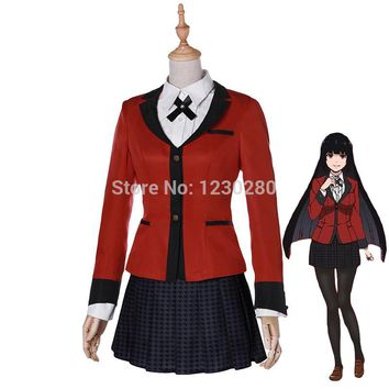 Anime Kakegurui Jabami Yumeko Cosplay Costume Japanese High School Uniform Cosplay Costume Halloween Party Cosplay Custom Made