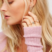 Free People Sun Catcher Delicate Ring Set