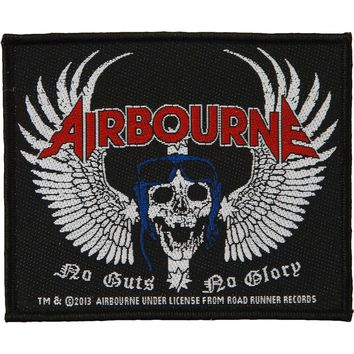 Airbourne Men's Skull Wing Woven Patch Black