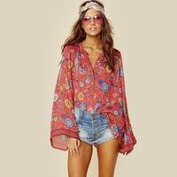 Long Sleeve Bohemia Hippie Blouse