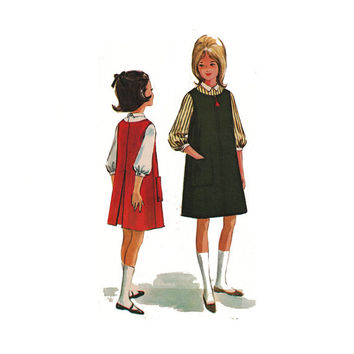 "1960's McCall's 6999 Tween Girl's Jumper and Blouse Size 12 || Breast 30"" / 76cm 