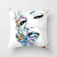 Marilyn Monroe (NOW WITH MORE SIZES) Throw Pillow by NKlein Design