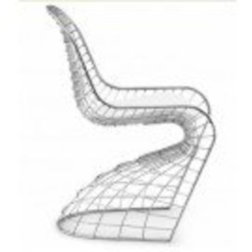 Modern Set of 2 Wire Frame Panton S Chair Replica
