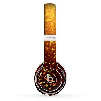 The Bright Gold Glowing Sparks Skin Set for the Beats by Dre Solo 2 Wireless Headphones