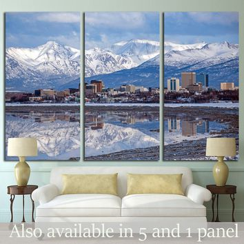 Anchorage Skyline with a winter reflection №1751