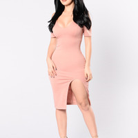 Put On Your Dancing Shoes Dress - French Mauve