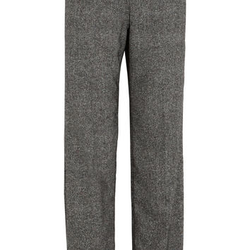 Loewe - Silk and wool-blend wide-leg pants