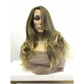 """Blonde balayage skin top multi parting 