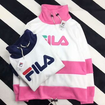 FILA PINK WHITE CONTRAST casual ladies wear F-HYLFZC Pink - white