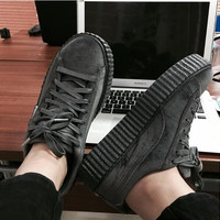 Rihanna x PUMA Creeper Velvet Pack sports shoes gray H-TXXC-WXXC