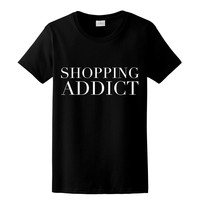 Shopping Addict, Womens Graphic Tee