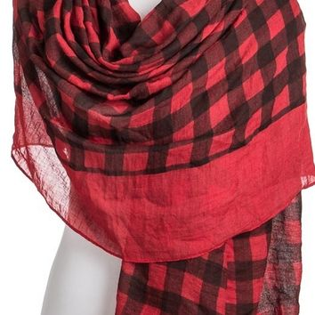 Checkered Red Scarf