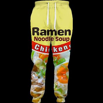 Chicken Ramen Joggers 3d Printed salty Japanese noodles Jogger Sweatpants Women Men Full Length Hip-hop Trousers Pants