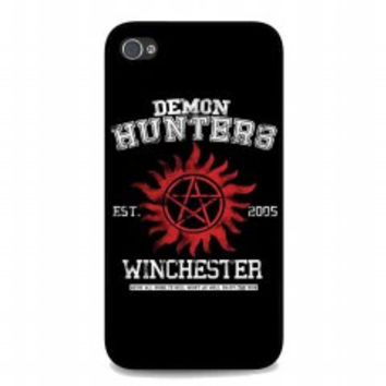 supernatural demon hunters for iphone 4 and 4s case
