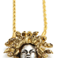 The Medusa Pendant Necklace in Silver & Gold