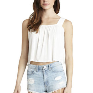 Flare Top in White/Yellow - BCBGeneration