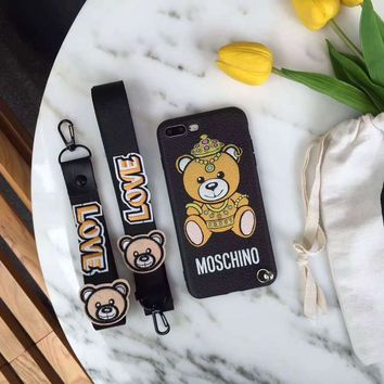 Moschino Soft Silicone Hard Case Cover For iphone 6 6S plus 7 7PLUS 8PLUS X