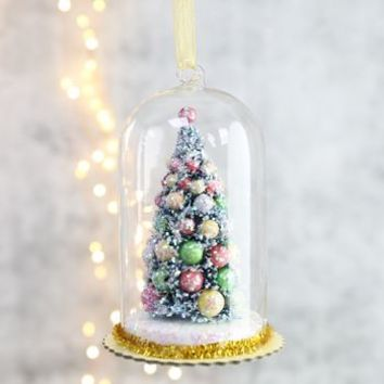 Tree In Glass Dome Hanging Decoration