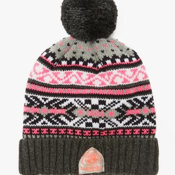 Superdry Helsinki Fairisle Beanie | BANK Fashion