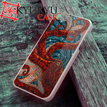 Cute Mosaic Octopus Art design - iPhone 4/4S, iPhone 5/5S, iPhone 5C Case and Samsung Galaxy S2 i9100, S3 i9300, S4 i9500 Case