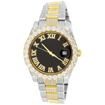 Steel Two Tone Gold Men's 40mm Solitaire Presidential Watch