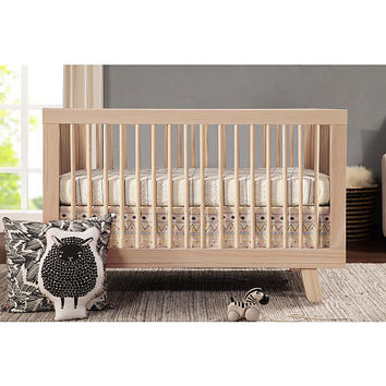 Babyletto Hudson 3-in-1 Convertible Crib with Toddler Rail - Washed Natural