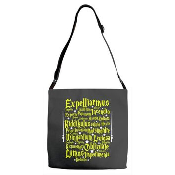 Expelliarmus Harry Potter Spell Adjustable Strap Totes