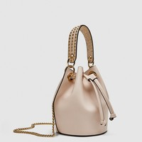 MINI BUCKET BAG WITH EYELETSDETAILS