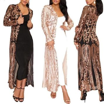 Rhinestone Cowgirl Sequined Duster