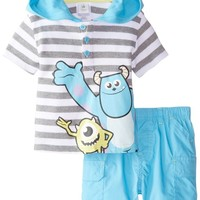 Disney Baby Boys' Monsters Hooded Short Set