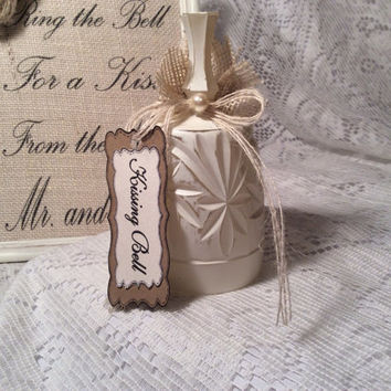 Personalized kissing bell with sign
