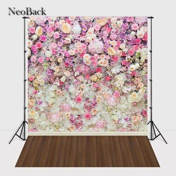 CREYLD1 NeoBack Vinyl Cloth Photo Wedding Floral Photo Backdrop Printed Children Flower Photographic Backgrounds Photo Studio A0746