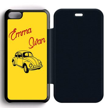 Emma Swan Leather Wallet Flip Case iPhone 5C