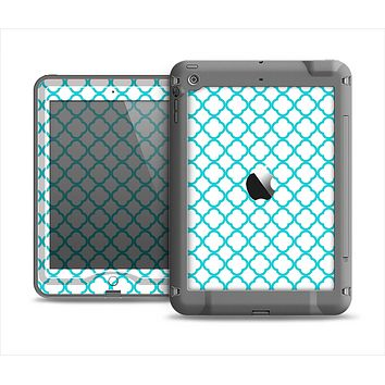 The Moracan Teal on White Apple iPad Air LifeProof Nuud Case Skin Set