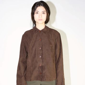 Suede Style Overshirt / M