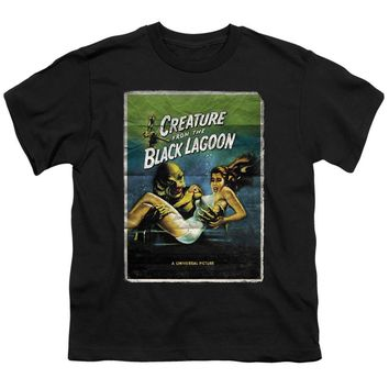 Creature from the Black Lagoon Kids T-Shirt Movie Poster Black Tee