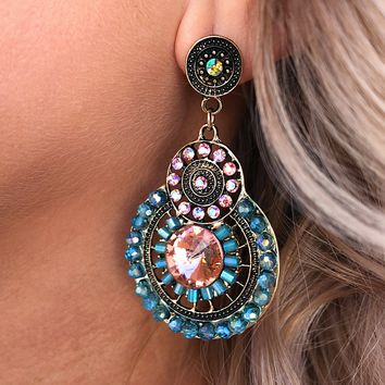 Trailblazer Earrings: Turquoise/Multi
