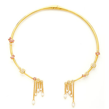 20K Open Collar Hollow Bar Necklace | Moda Operandi