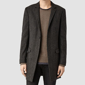 Mens Toma Coat (Charcoal) | ALLSAINTS.com