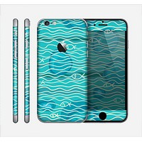 The Blue Abstarct Cells with Fish Water Illustration Skin for the Apple iPhone 6