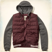 Channel Quilted Vest Hoodie Jacket