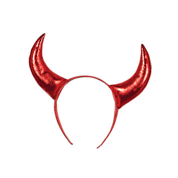 Devil Horns w/snap-on headband Pack of 12