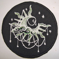 Iron-On Patch - GLOW-in-the-DARK MOON