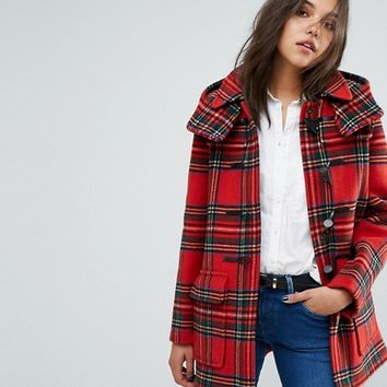 Gloverall Exclusive Check Duffle In Royal Stewart Plaid at asos.com