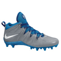 Nike Huarache 4 LE Lacrosse Cleats - Gray/Royal | Lacrosse Unlimited