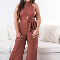 Luciana Cutout Jumpsuit (D. Rose)
