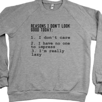 Heather Grey Sweatshirt | Funny Lazy Slacker Shirts