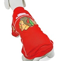 Chicago Blackhawks Dog Jersey at barker & meowsky a paw firm since 1998 carries dog clothes, dog accessories, dog carriers, dog collars, dog toys, dog beds and dog treats