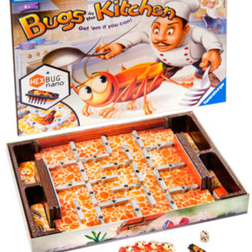 Bugs in the Kitchen Game: Fast-paced family board game with a bug 'bot.