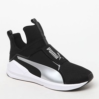 Puma Women's Black & Silver Fierce Core Sneakers at PacSun.com